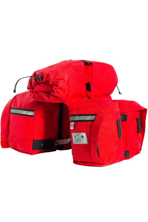 Elite Front Panniers - Red